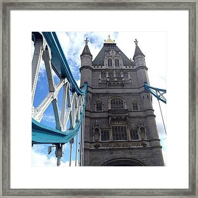 Tower Bridge #towerbridge #london Framed Print