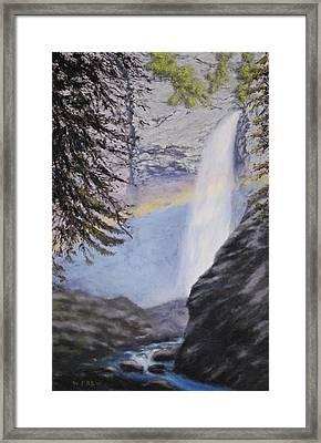 Tower Falls Framed Print