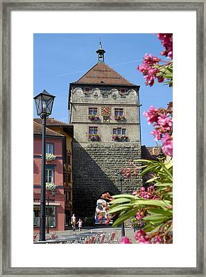 Tower In Old Town Rottweil Germany Framed Print by Matthias Hauser