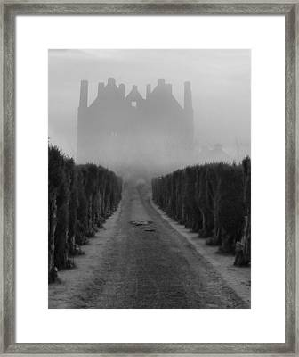 Tower In The Mist Framed Print by Debra Collins