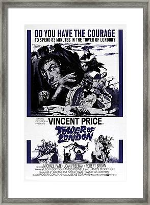 Tower Of London, Vincent Price Top Framed Print