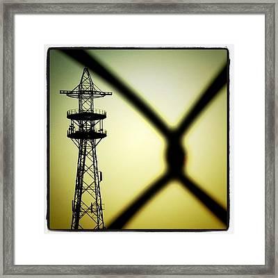 #tower Of #power. #powerline Framed Print