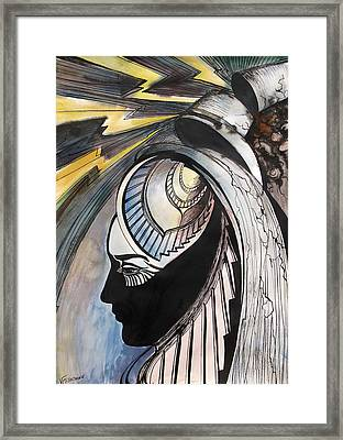 Framed Print featuring the painting Tower Tarot by Valentina Plishchina