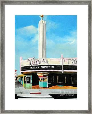 Tower Theater Fresno Framed Print