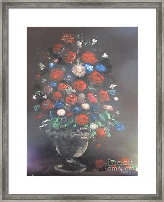 Towering Bouquet Framed Print