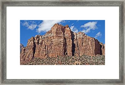 Towering Cliffs Framed Print by Bob and Nancy Kendrick