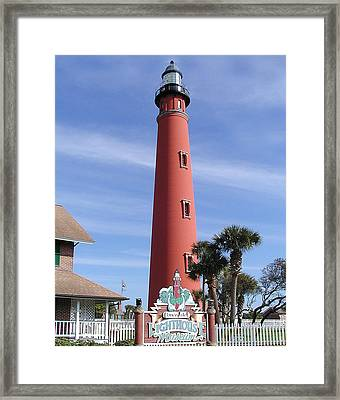 Towering Lighthouse Framed Print by Barbara Middleton