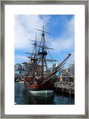 Towering Ship Framed Print by Harlan Fijal-Campbell