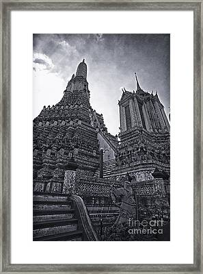Towers Framed Print by Thanh Tran