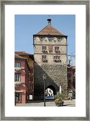 Town Gate Schwarzes Tor In Rottweil Germany Framed Print by Matthias Hauser