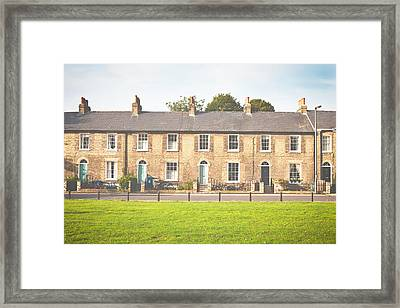 Town Houses Framed Print