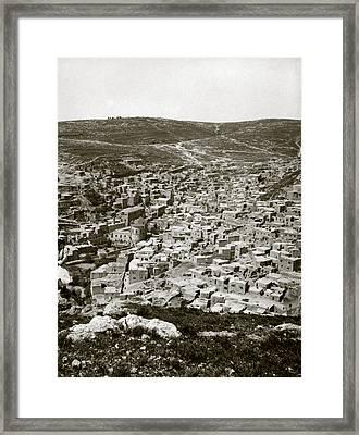 Town Of Es Salt, Ancient Jabesh-gilead Framed Print by Everett