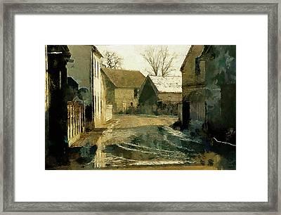 Town Road Framed Print