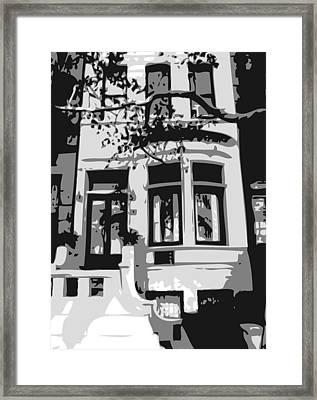 Townhouse Bw3 Framed Print by Scott Kelley