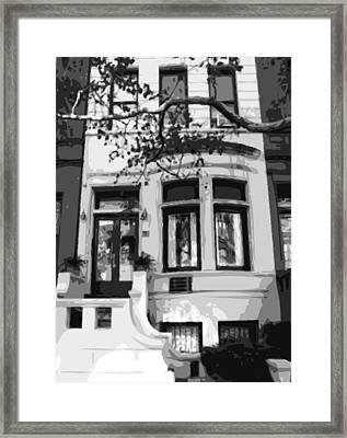 Townhouse Bw8 Framed Print by Scott Kelley
