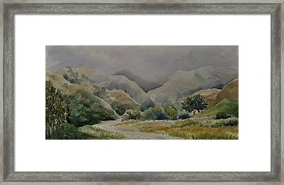 Towsley Canyon Morning Framed Print by Sandy Fisher