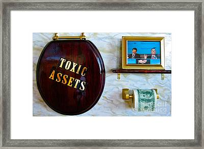 Toxic Assets Framed Print by Dawn Graham
