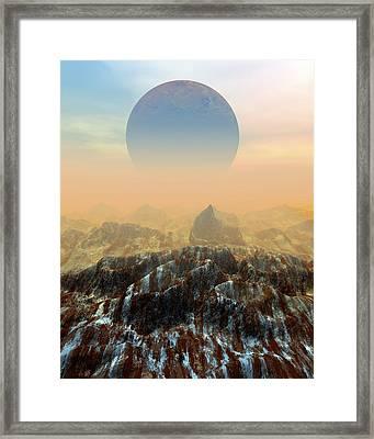 Toxic Planet Framed Print