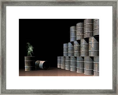 Toxic Waste, Conceptual Artwork Framed Print