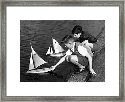 Toy Boats Framed Print