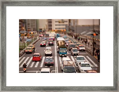 Toy Cars In Tokyo Framed Print by Ei Katsumata