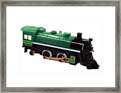 Toy Engine Framed Print by Susan Leggett