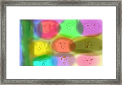 Toy Faces Framed Print by Rosana Ortiz