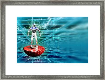 Toy Footballer Framed Print by Coneyl Jay