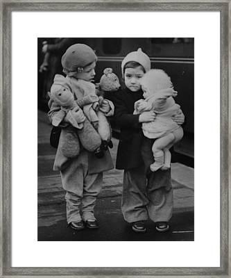 Toy Luggage Framed Print by Keystone