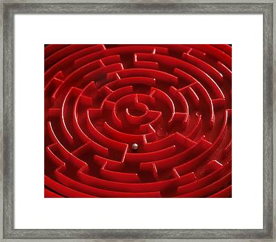 Toy Maze Framed Print by Martin Bond