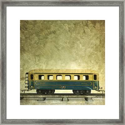 Toy Train Framed Print by Bernard Jaubert
