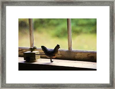 Toys In The Window Framed Print