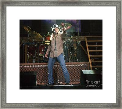 Trace Adkins Framed Print by Darleen Stry