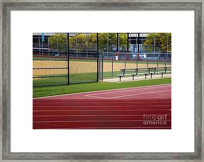 Track And Baseball Diamond Framed Print by Inti St. Clair