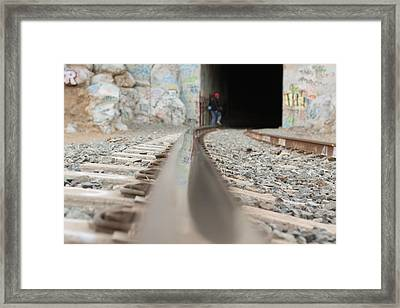 Track Low Down Framed Print by Denice Breaux