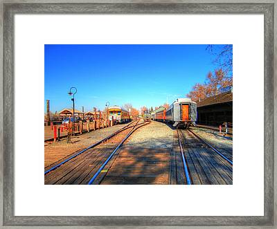 Tracks Along The River-hdr Framed Print by Barry Jones