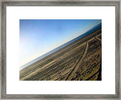 Tracks Framed Print by Jon Berry OsoPorto