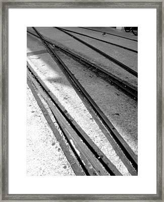 Tracks Framed Print by Roberto Alamino