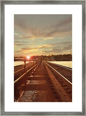 Tracks To Greatness Framed Print