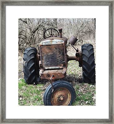Tractor-1 Framed Print by Todd Sherlock