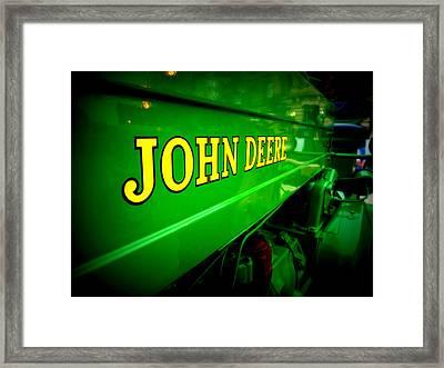 Tractor Art Framed Print by Joe Johansson