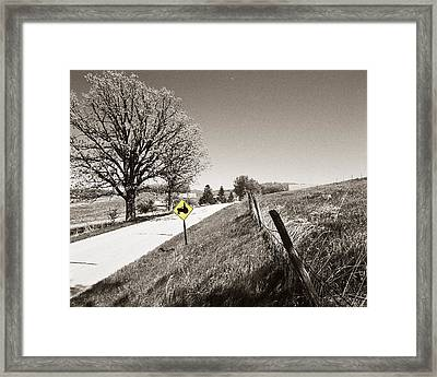 Tractor Country Framed Print