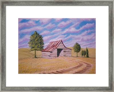 Framed Print featuring the pastel Tractor Shed by Stacy C Bottoms