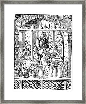 Trades: Pewterer Framed Print by Granger