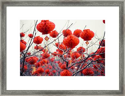 Traditional Chinese Lanterns Framed Print by Eastphoto