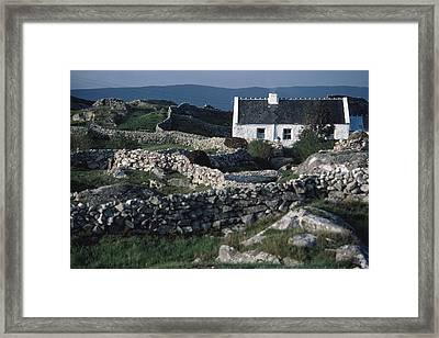 Traditional Cottage, Co Galway, Ireland Framed Print