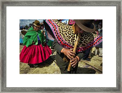 Traditional Dance Of The Bolivian Highlands. Framed Print by Eric Bauer