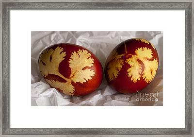 Traditional Easter Eggs Framed Print