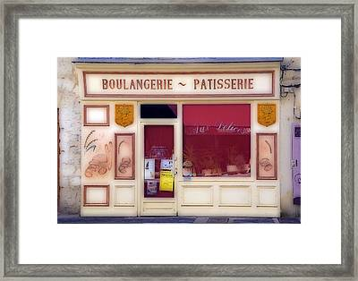 Framed Print featuring the photograph Traditional French Shop by Rod Jones