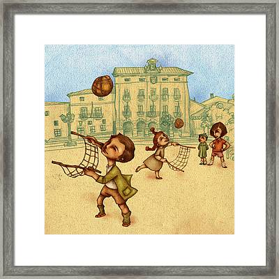 Traditional Game 2 Framed Print